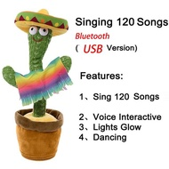 Talking Cactus Plush Toy Dancing Cactus Speak Talk Doll Electronic Shake Early Education Toy Recording for Children Home Decor