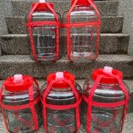 (15公升寛口方格釀造玻璃罐)台灣現貨供應出貨,方格釀造玻璃罐,玻璃儲物罐,梅子酒玻璃罐,玻璃酒甕,釀醋,水果醋。