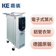 [龍龍3C] 嘉儀 HELLER 12片 電子式 葉片 恆溫 電暖爐 電暖器 KED512T