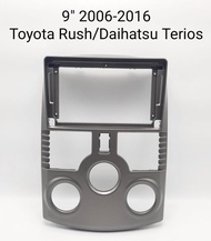 Frame 2 din headunit android 9 inch Toyota Rush terios 2006-2016