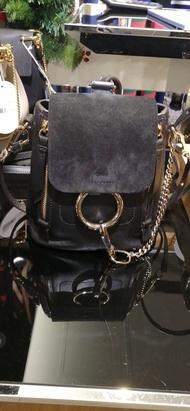 【Go時尚】Chloe Faye mini 後背包 黑色 蔡依林同款