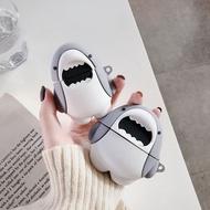 【藍牙耳機保護套】可愛鯊魚airpods硅膠保護套airpods pro蘋果無線藍牙耳機套華強北