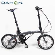 DAHON大行 EEZZ D3 16吋3速鋁合金輕量化縱向快速折疊單車/自行車-霧灰