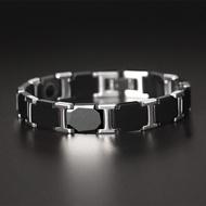 100% Tungsten Chain Bracelet Bangle for Men Hematite Magnetic Health Care Male Jewelry Exquisite Bracelets Gifts Boyfriend Fashion Jewelry
