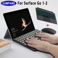 For Microsoft Surface Go 1 2 Rechargeable Ultra Slim Bluetooth Touchpad Backlight Magnetic Keyboard Wireless For Microsoft surface go 10.2