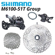 Shimano Deore M6100 1X12 Speed Derailleurs Group 12 Speed Acceleration Hook Cn M6100 Chains Airwheels Rd Cassette Ketting 12 S 12V 51T