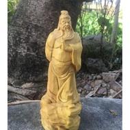 黃楊木關公 關聖帝君 神像木雕擺件