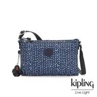 【KIPLING】星光雪花綻藍雙內袋斜背小包-MIKAELA