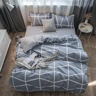 20款北歐格子簡約親膚棉床包4件套(床包+被套+枕套2個)單人/雙人/加大雙人/特大雙人/可訂做