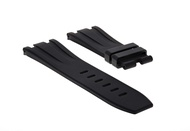 28MM RUBBER BAND STRAP FIT 42MM AUDEMARS PIGUET ROYAL OAK OFFSHORE WATCH BLACK
