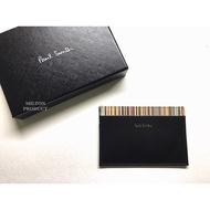 Paul Smith 英國品牌 名片夾卡夾信用夾 經典款彩虹條文 義大利製造 Signature Stripe Trim