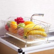 不銹鋼水槽瀝水架洗菜籃子瀝水籃碗碟盤收納架水池置物架廚房用品