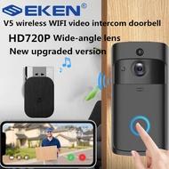EKEN 720P Video Doorbell Camera Intercom Battery-Powered Doorbell Wireless Chime IP Wifi Home Security Camera Phone Sensor