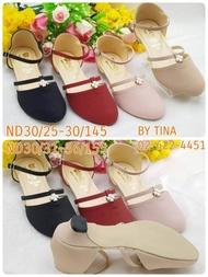 รองเท้าคัชชูส้นสูงสำหรับเด็กผู้หญิง น่ารัก ใส่สบาย มี 2 สีให้เลือก ไชส์31-36