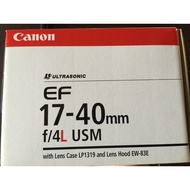 Canon EF 17-40 mm F/4.0 L USM 近全新贈原廠保護鏡