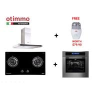 Otimmo Hob+Hood+Oven with Free GWP chopper worth SGD 79.90 Exclusive Shopee Bundle