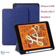 เคสสำหรับ iPad Mini 5,iPad Air 1/Air 2, iPad Pro 11 2018 พับตั้งได้ มีช่องเสียบปากกา เปิดปิดหน้าจออัตโนมัติ -Cover Case with Pencil Holder with Auto Sleep/Wake Function for Apple iPad Case