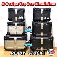READY STOCK Top Box Aluminium  X-Design Kotak Motosikal Aluminium 35L 45L 55L 65L
