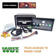 ALPHA COUSTIC จอติดรถยนต์ เครื่องเสียงรถยนต์ จอแอนดรอย์ 2 Din 7นิ้ว ระบบ Android 10 จอ 7นิ้ว (ไม่เล่นแผ่น) Alpha Coustic (ใหม่ล่าสุด)