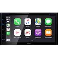 """JVC KW-V66BT Bluetooth Car Stereo Receiver with USB Port – 6.8"""" Touchscreen Display - AM/FM Radio - MP3, CD and DVD Player - Double DIN – SiriusXM - with Apple CarPlay and Android Auto (Black)"""