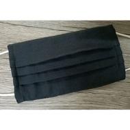 二重紗口罩布套-素色黑