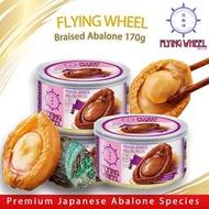 [170g x 3] New Moon Flying Wheel Braised Abalone Premium Japanese Whole Abalone (100% real)