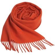 Vivienne Westwood 長版刺繡行星LOGO羊毛圍巾(橘)