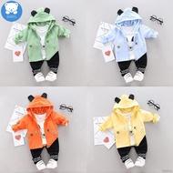 BABYL  Baby Boy Long Sleeve Animal  T-shirt Hoodie Sweatshirt + Pants Set
