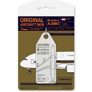AviationTag蒙皮鑰匙圈 新加坡航空A380 MSN003 9V-SKA