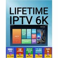 IPTV 6K  Free trial / iptv / live iptv  / vod / 1000+live tv /