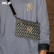 【MLB】斜背包 丹寧牛仔老花Monogram系列 紐約洋基隊(32BGDX111-50U)