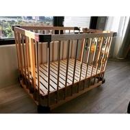 farska 四用嬰兒床+可攜床墊組合  二手