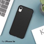 犀牛盾 iPhone XR SolidSuit碳纖維防摔背蓋手機殼黑色