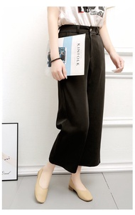 ลดราคา หน้าร้อนพิเศษ] รองเท้าคัชชูผู้หญิง รองเท้าคัชชูส้นเตี้ย รองเท้าสุภาพญ มีสีดำ เบจ เขียว ไซต์ 36 37 38 39 40