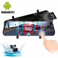 QCY K19 4G 10 inch Dash cam Dual lens rearview mirror Car dvr Android 8.1 1+16 ADAS Navigation