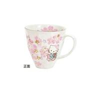 【真愛日本】17101200002 日本製美濃燒櫻花-馬克杯 三麗鷗 Hello Kitty 凱蒂貓 櫻花杯 燒杯
