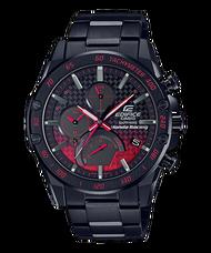CASIO 卡西歐 EQB-1000HR-1A  EDIFICE 限量聯名腕錶賽車風格錶 黑 紅 50mm
