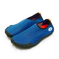 【LOTTO】男 多用途戶外休閒運動溯溪機能護趾水鞋 AQUWEAR系列(藍黑 0906 附收納袋)