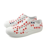 native JEFFERSON PRINT 懶人鞋 洞洞鞋 防水 白色 紅藍星 男女鞋 11100101-8711 no860