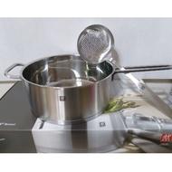 全新德國雙人牌24公分不鏽鋼大湯鍋+勺子組合
