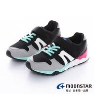 【MOONSTAR 月星】Hi系列-2E寬楦十大機能中童童鞋(黑綠)