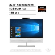 2020 HP Pavilion 23.8 Inch Full HD All-in-One Touchscreen Desktop Computer (AMD Ryzen 5 up to 3.7GHz, 8GB RAM, 1TB SSD, WiFi, Bluetooth, HDMI, Windows 10 Home) (White)