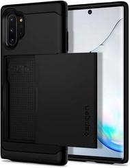 【日本代購】Spigen Galaxy Note10 Plus手機殼 美國陸軍MIL標準 抗衝擊  Qi充電 超薄裝甲 黑色