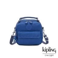 【KIPLING】經典海洋藍拉鍊兩用側背後背包-PUCK