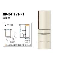 國際牌 日本製電冰箱 NR-E412VT-N1/NR-E412VT-W1
