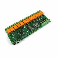 Denkovi Web控制 I/O ADC 12繼電器輸出板:IP  MAC,PING,Java,LABVIEW,12VDC [2美國直購]