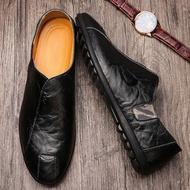 รองเท้าคัชชูชาย รองเท้าผู้ชายรุ่นใหม่รองเท้าหนังลำลองขาเดียวใส่ได้ทุกฤดูกาลนิ่มสุด ๆ ราคาถูก