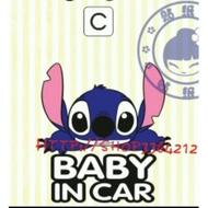 史迪奇baby in car車貼