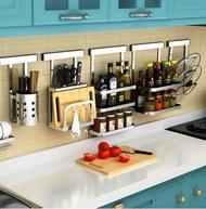 免打孔廚房刀架 廚房置物架用品304不銹鋼刀座多功能菜刀具收納架 YTL