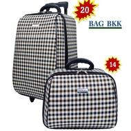 BAG BKK Luggage กระเป๋าเดินทางล้อลาก ระบบรหัสล๊อค ขนาด 20 นิ้ว/14 นิ้ว Scott  Classic Code F7704-20